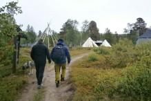 Samisk sommerviste ved Saltoluokta