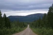 Vejen til Vuojat med Jarre i baggrunden