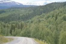 Vildmarksvägen på vej fra Stekenjokk mod Gäddede